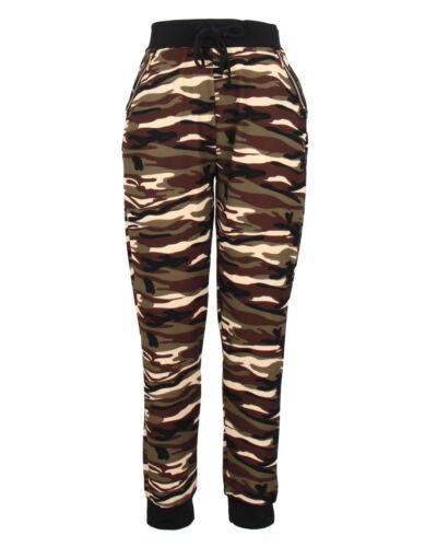 Women Ladies Camouflage Army Lounge Wear Trousers Joggers Sweatshirt Top