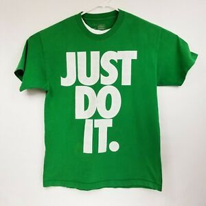 e6f38d6d NIKE JUST DO IT Green GRAPHIC TEE T SHIRT MENS LARGE GUC | eBay