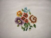 Ep 2721 Vintage Small Floral Preworked Needlepoint Canvas