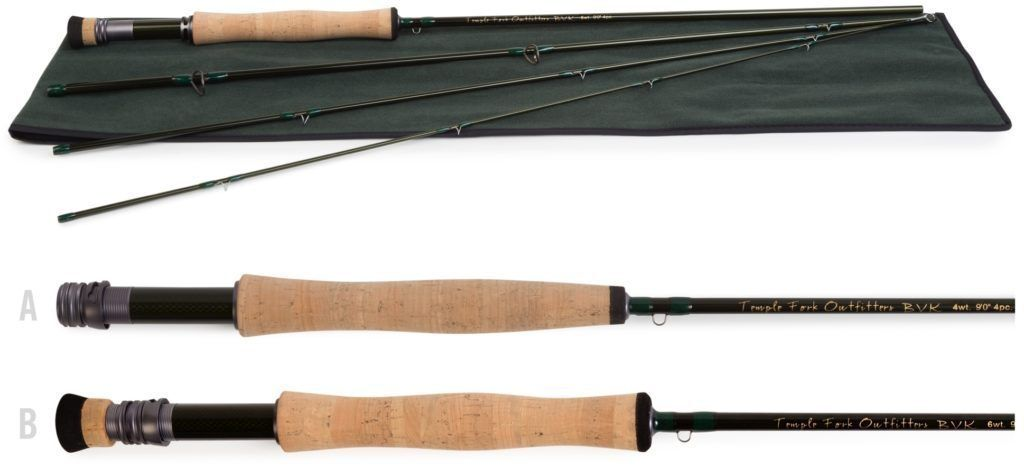 Temple Fork BVK Fly Rod  3 wt. 8'0  4 pc  cheaper prices