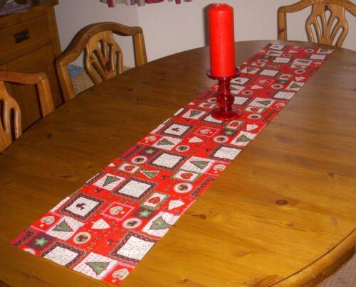 Christmas FESTIVE Table Runner 110 cm x 26cm RED /& GREEN Decoration  STRAIGHT