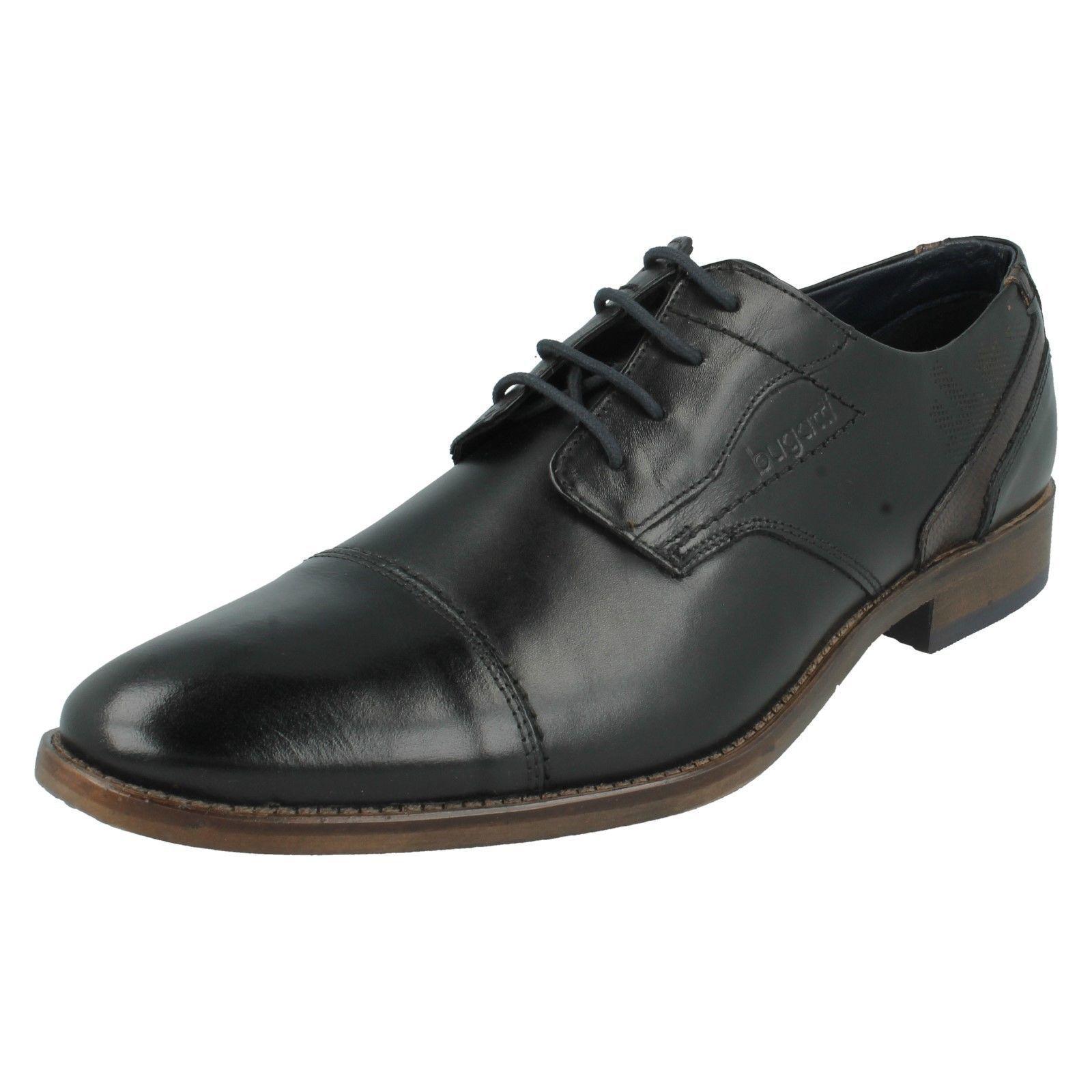 Herren Bugatti schwarz Leder Formelle Schuhe UK Größen 7-11 312-16401    | Attraktiv Und Langlebig