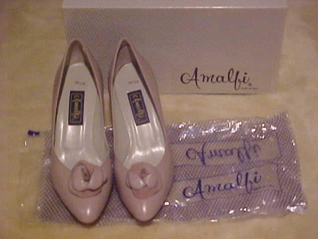 LADYS DRESS DUSTY ROSE LEATHER PUMP DRESS LADYS Schuhe NIB AMALFI  MODA TOSCA CALF SIZE 8.5AA 4ab5f9