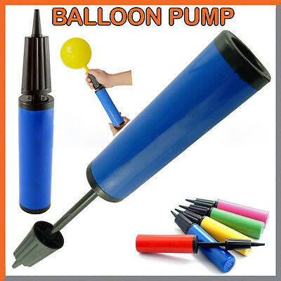 Party Balloon Pump Hand Held Double Action Inflator - Assorted Colors Decorate