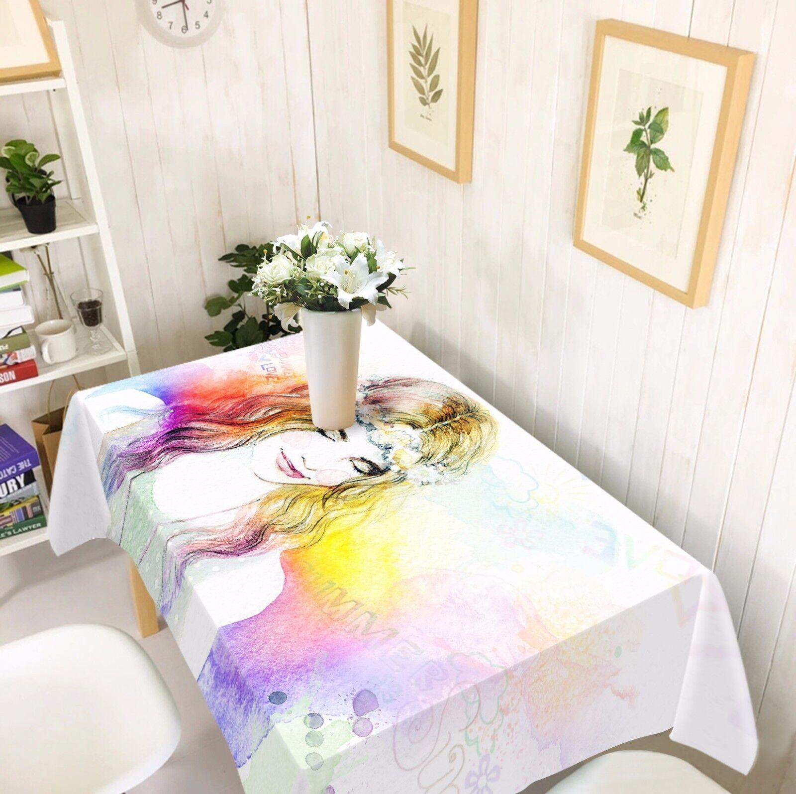 3D Fille Couleur Nappe Table Cover Cloth fête d'anniversaire AJ papier peint Royaume-Uni Citron