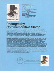7816-15c-Photograph-Stamp-1758-USPS-Souvenir-Page