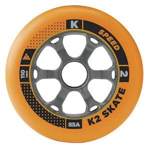 K2-Rollers-en-ligne-ROULEAUX-LOT-4-piece-110mm-85A-pour-patins-Fitness-SKATING