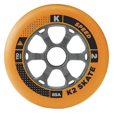 K2 Inliner Rolle 1 Stück 110mm 85A für Inline Skates Fitness Skates Skating