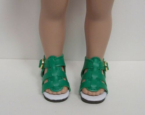 """Debs GREEN Strappy SANDALS Doll Shoes For Tonner 10/"""" Ann Estelle Sophie Patsy"""