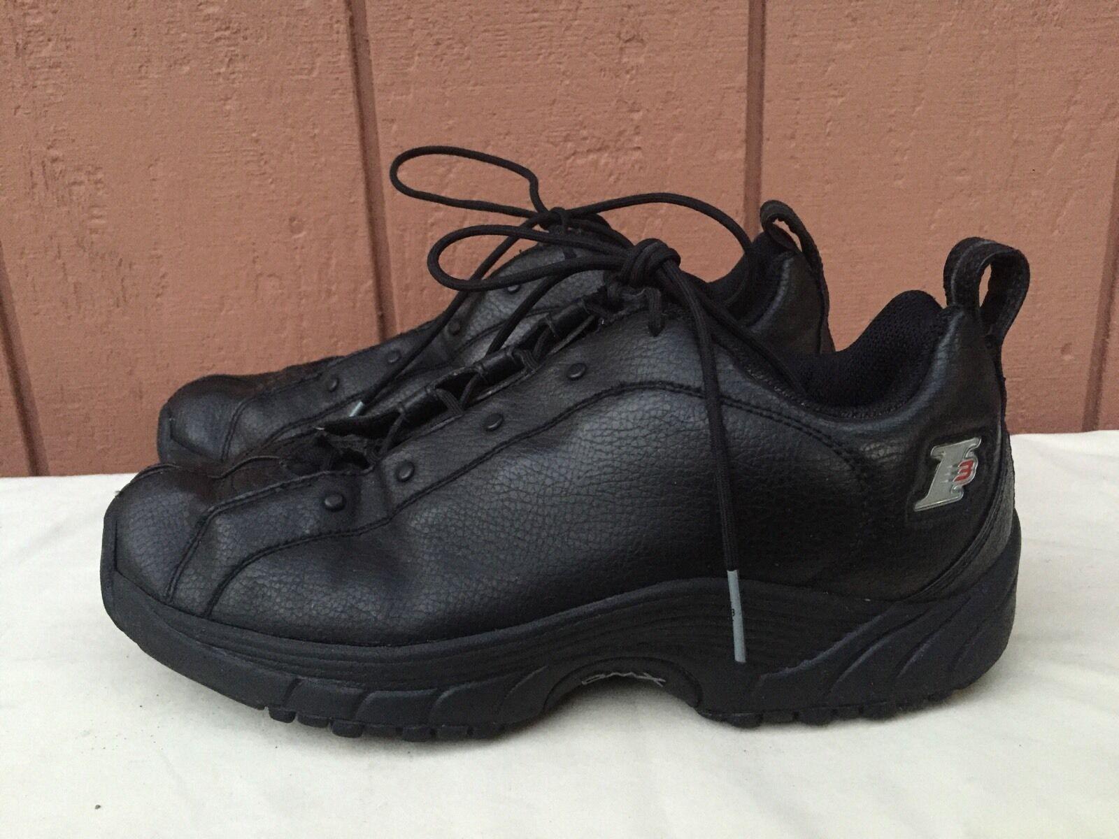Excelente condición usada poco común REEBOK 2001 Vintage I3 Negro Zapatillas Allen Iverson Playoff para Hombre US 8