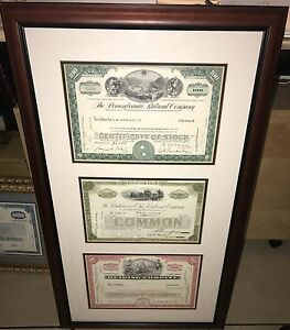 Custom-framed-3-stock-certificate-with-certificate-of-authenticity