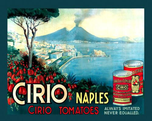 """Cirio Naples Tomatoes Italy Italia Food 16/""""X20/"""" Vintage Poster FREE SH in USA"""