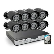Zmodo 8Channel Security Camera System DVR & 8 x 700TVL Analog Cameras with 500GB