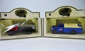 Die-Cast-Metal-Zerolene-amp-Standard-Oil-Delivery-Trucks-Lot-Of-2-New-In-Worn-Box