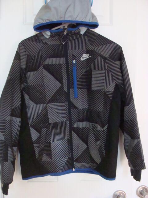 07e84fd5b Nike Boys Ultimate Flash Jacket Black blue grey Reflective Multiple ...