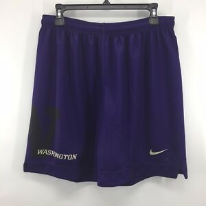 85b3d2c1ec9ee Details about NIKE TEAM Washington Huskies Purple Mesh BASKETBALL SHORTS Sz  Large NEW V6B