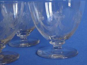 4 Anciens Verres A Eau Cristal Art Deco Style Jean Luce Pourtant Pas Vulgaire