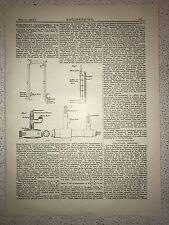 Exhaust Gas Calorimeters: Combustion Engines: 1912 Engineering Magazine Print