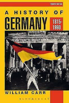 1 of 1 - A History of Germany, 1815-1990, William Carr, Good Condition Book, ISBN 9780340