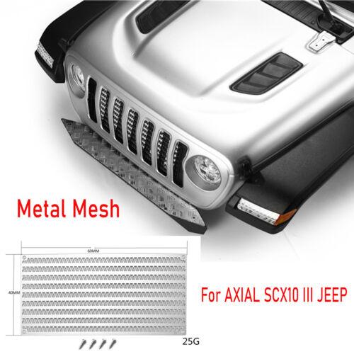 Metal Mesh Grilles Intake Radiator Box Accessories For DJ AXIAL SCX10 III JEEP