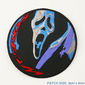 Image is loading SCREAM-Scary-Movie-Ghostface-Knife-Embroidered-Patch