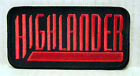"HIGHLANDER TV Series Logo Embroidered Patch- Size: 4""- FREE S&H (HIPA-001)"