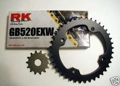 RK Gold Chain Kit JT Sprocket Kit Honda TRX 450R 450ER 2006-2014