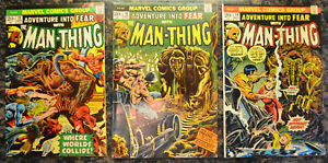 ADVENTURE-INTO-FEAR-3-Book-LOT-13-16-18-1973-Marvel-Comics-Man-Thing