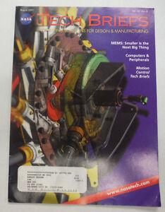 Nasa Tech Briefs Magazine MEMs Next Big Thing August 2001 ...