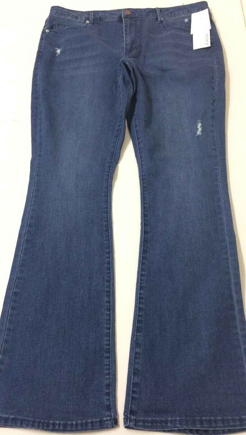 Just Fab Women High Waisted Jeans bluee Size 34 RRP .00 Box E139
