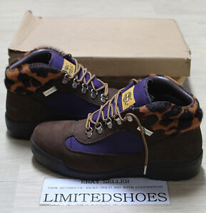 TIMBERLAND X SUPREME BROWN LEOPARD 85511 FILED BOOTS US 9.5 SIZE leather cdg