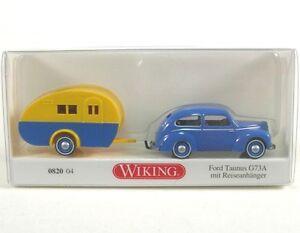 Ford-Taunus-G73A-azul-con-Acoplado-del-recorrido-con-Caravan