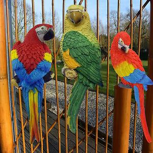 papagei ara zaunhocker zaundeko kantenhocker gartenfigur