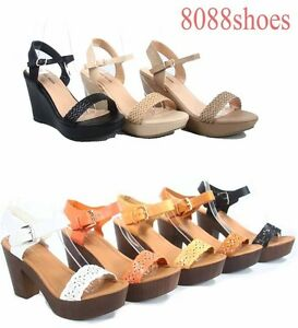 Women-039-s-Cute-Stylish-Platform-Wedge-High-Heel-Sandal-Shoes-Size-5-10-NEW