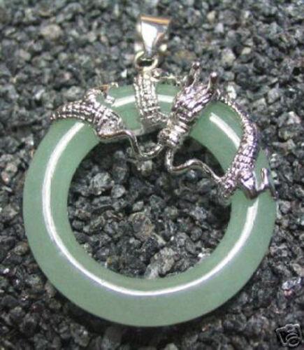 Mode Naturel 18K Plaqué Or Jade Turquoise Dragon Pendentif Chaîne Collier