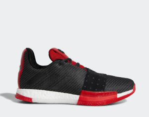 New-Adidas-Men-039-s-Harden-Vol-3-Basketball-Shoes-AQ0034-Black-Grey-Scarlet-Red