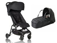 Mountain Buggy 2016/2017 Nano Bundle, Stroller & Cocoon In Black Brand