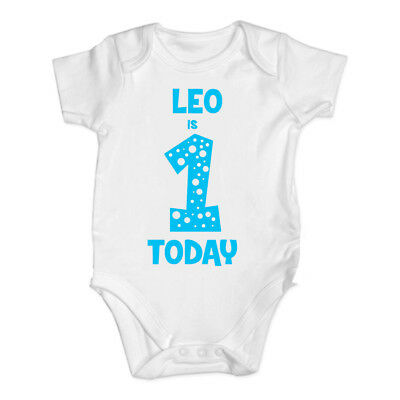 My 1st Birthday Baby Vest One Today Baby Grow Vest Bodysuit