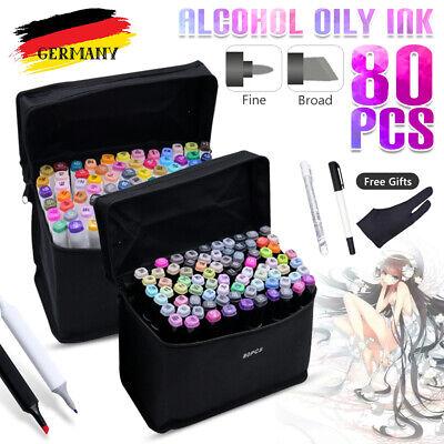80+3 Copicmarker Lackmarker Stifte Farbe Set Twin Tip Graphic Alkohol Sketch DE
