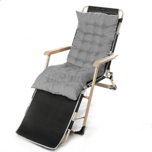 50INCH Garden Bench High Back Chaise Lounger Rocking Deck Chair Cushion Pad