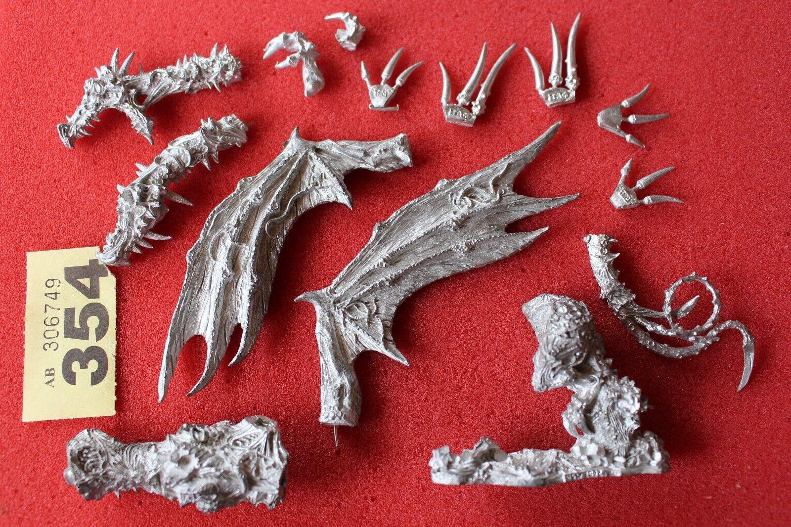 Games Workshop Warhammer Chaos Dragon Galrauch New Complete GW Metal OOP Mint