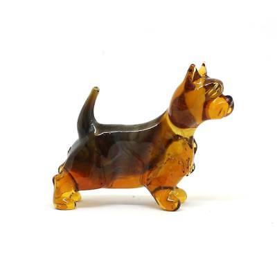 Middle blown glass figurine Dog Handmade #116 Gordon setter
