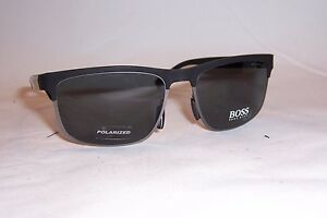 f36216ed3a NEW HUGO BOSS Sunglasses 0835 S HWV-RA BLACK Carbon GRAY POLARIZED ...