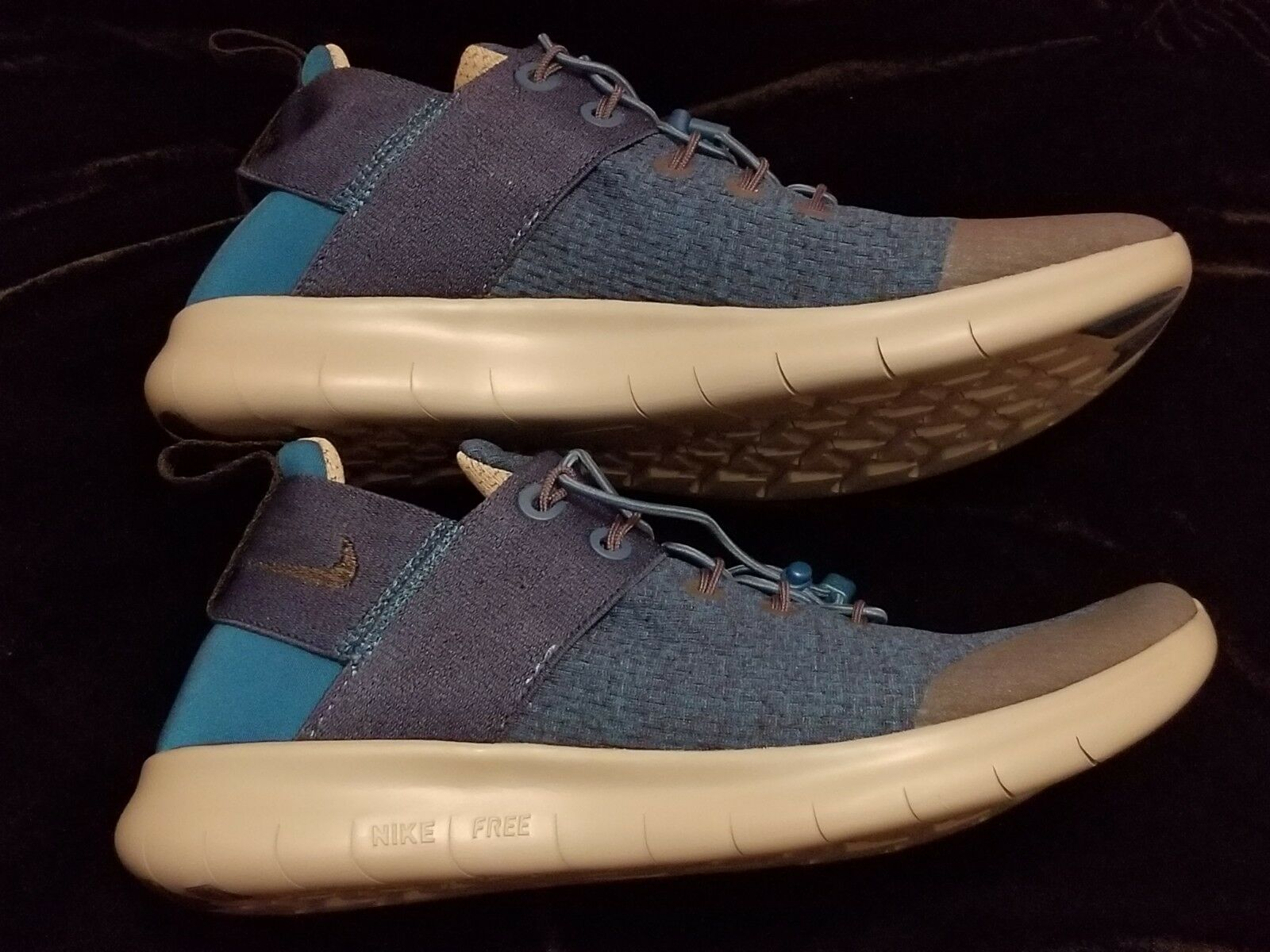NEW WOMENS NIKE FREE RN CMTR BLUE Gray  Size 8