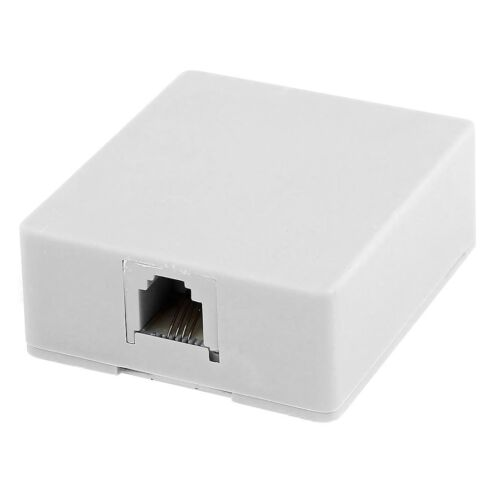 50 WHITE Telephone Modular Single Port Surface Mount Jack Female RJ 11