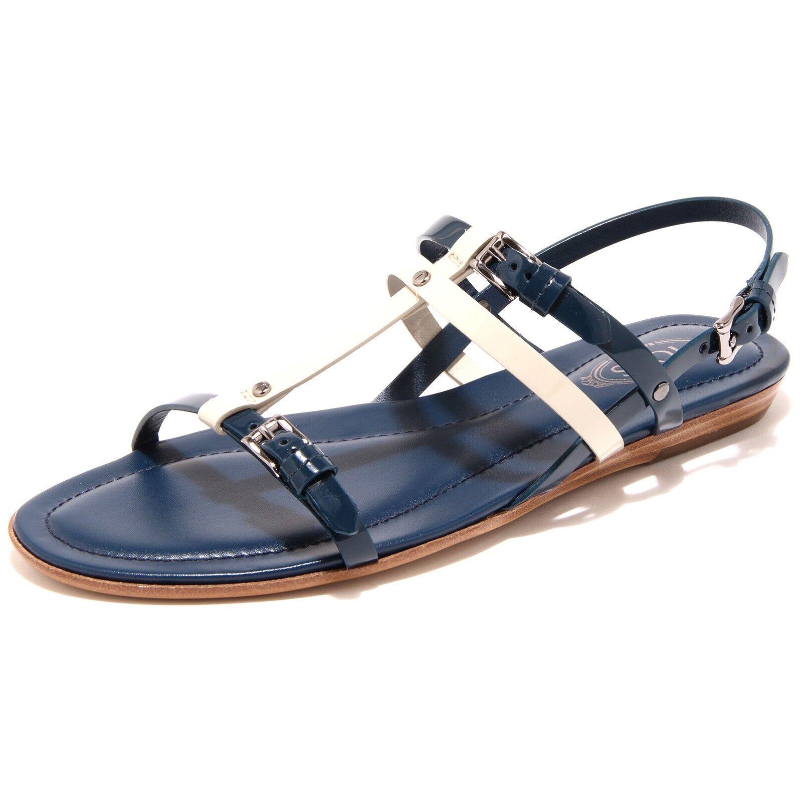 54230 sandalo TOD'S  FIBBIETTE blu  scarpa donna shoes women