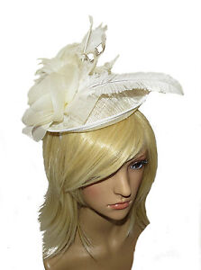 BEAUTIFUL-LARGE-CREAM-HAIR-WEDDING-FASCINATOR-HAT-HEADBAND-LADIES-DAY-RACES