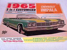 "Vintage 1965 Chevrolet Impala convertible Palmer Plastics model kit 6511 ""built"""