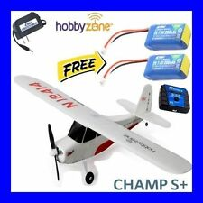 HOBBYZONE CHAMP S+ BNF BIND IN FLY RC AIRPLANE HBZ5480 WITH FREE EXTRA BATTERY !