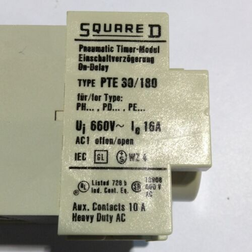 9999 PTE180 Square D Timer Module 81046